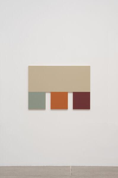 Morgan Fisher, '4 (Silver Gray, Sky Blue, Terra Cotta, Red)', 2013