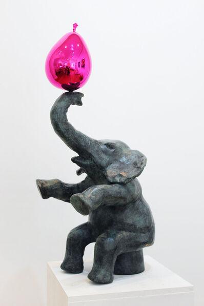 Philippe Berry, 'L'éléphant et son ballon rose', 2015