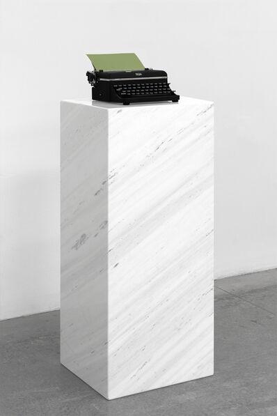 Jorge Méndez Blake, 'Pausa (Verde) / Pause (Green)', 2017