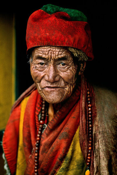 Steve McCurry, 'MONK AT JOKHANG TEMPLE, LHASA, TIBET, 2000', 2000