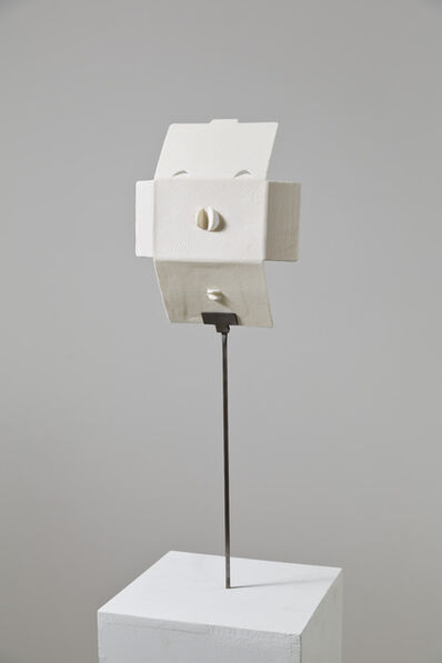 Judith Hopf, 'Trying to build a mask out of a smart phone package', 2013