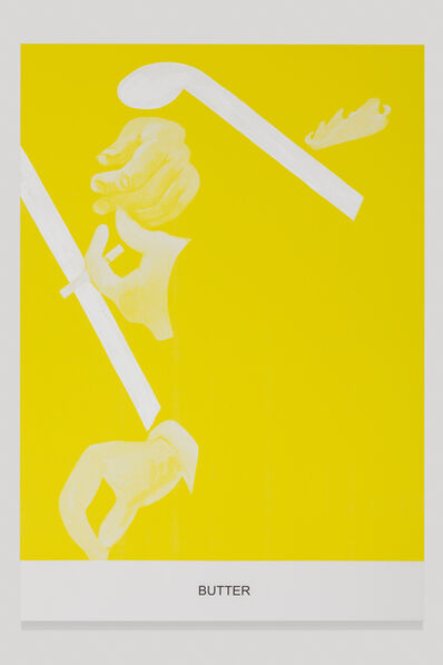 John Baldessari, 'The Yellow Series: Butter', 2016