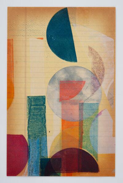 Austin Thomas, 'Juxtaposition of Yellow, Maroon, and Dark Violet', 2017