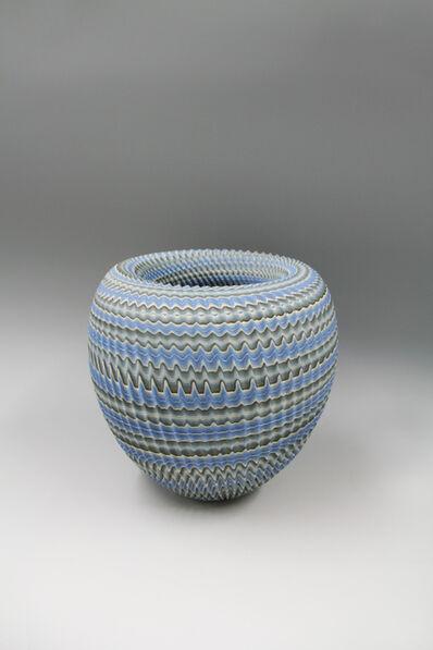 Ogata Kamio, 'Ridged Neriage (marbleized) bowl 'Chasm'', 2017