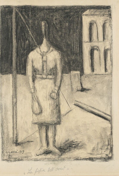"""Carlo Carrà, '""""The daughter of the West""""', 1919"""