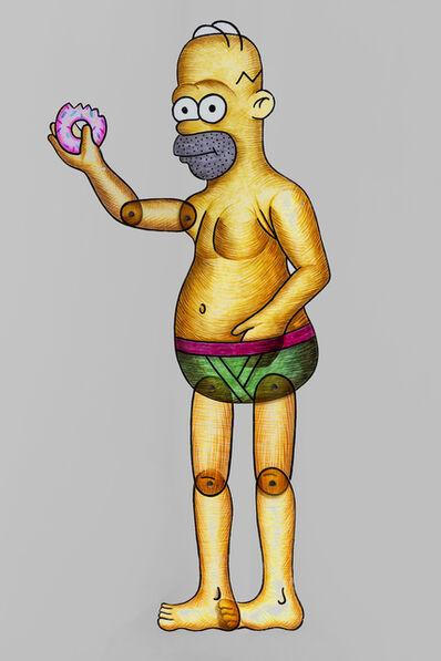 Spyros Aggelopoulos, 'Homer Simpson', 2018