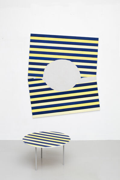 Päivi Takala, 'Renovation (blue and yellow)', 2018