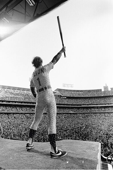 Terry O'Neill, 'Elton John at Dodger Stadium', 1975