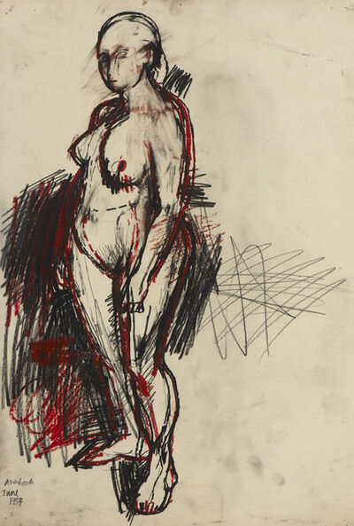 Frank Auerbach, 'Nude Standing ', 1954