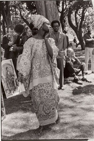 Ruth-Marion Baruch, 'Young woman at Free Huey Rally, De Fremery Park, Oakland, CA', 1968