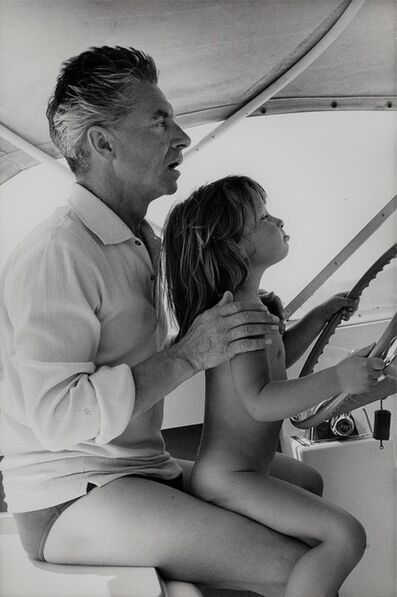 Loomis Dean, 'Herbert von Karajan with his daughter Isabel at the helm of their sailing boat', 1964