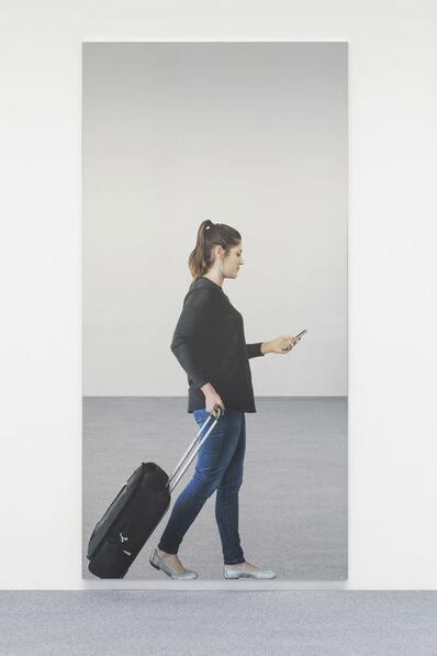 Michelangelo Pistoletto, 'Smartphone - ragazza con il trolley', 2018