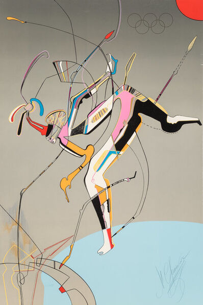Mihail Chemiakin, 'Runner, from Official Arts Portfolio of the XXIVth Olympiad, Seoul, Korea', 1988
