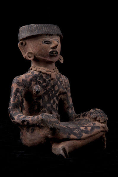 Unknown Pre-Columbian, 'Precolumbian Veracruz Seated Female', 600-900