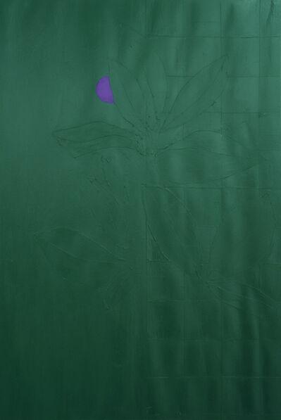 Jon Key, 'Green Plants and Violet Flower No. 4', 2019