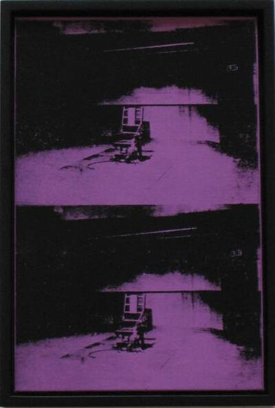 "Richard Pettibone, '""Andy Warhol, Two Electric Chairs, 1963""', 1996"