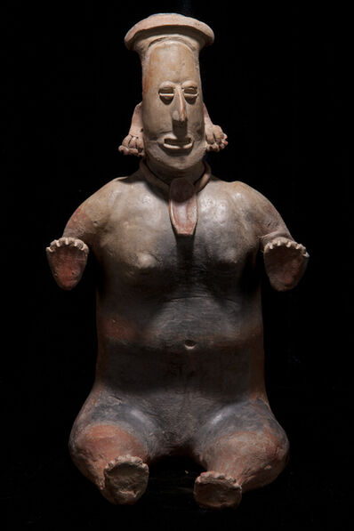Unknown Pre-Columbian, 'Precolumbian Jalisco Seated Female Figure', 100 BCE-250