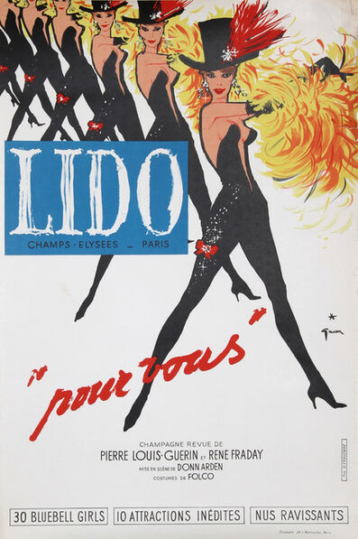 René Gruau, 'Lido, Pour Vous', Mid 20th Century