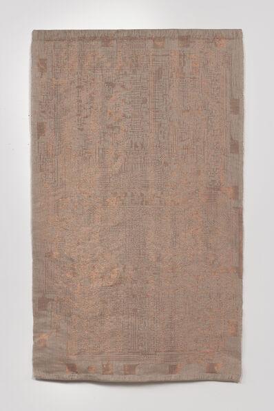 Analia Saban, 'Copper Tapestry (Intel 4004 Microprocessor, 1971)', 2019
