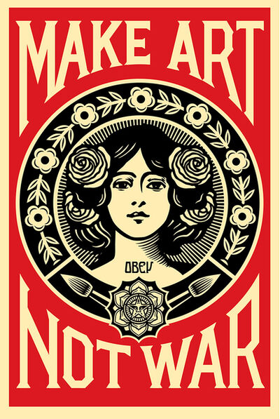 Shepard Fairey (OBEY), 'Make Art Not War', 2018