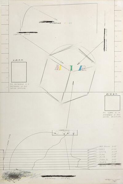 """Shusaku Arakawa, '""""The Enigmas of Correspond""""', 1965"""