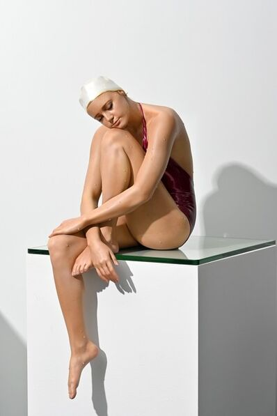 Carole A. Feuerman, 'Table-Top Serenity 1/8 - hyperrealism, female swimmer, cast resin sculpture', 2021