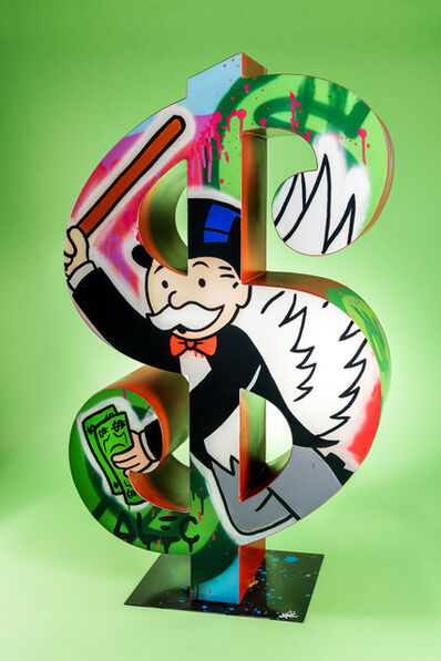 Alec Monopoly, 'Dollar Monopoly with a bat', 2020