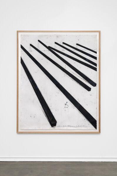 Bernar Venet, 'Barres droites - Obliques', 1984