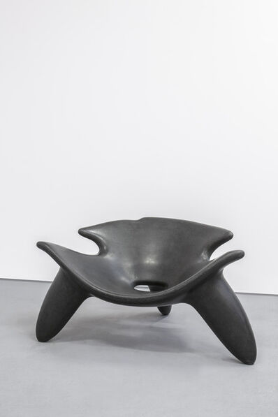 Wendell Castle, 'Concrete Chair (Black)', 2010