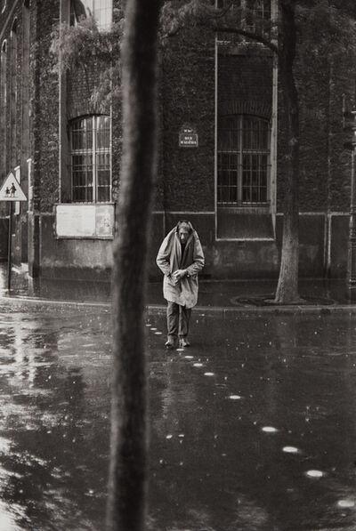 Henri Cartier-Bresson, 'Alberto Giacometti, Rue d'Alesia, Paris', 1961-printed later