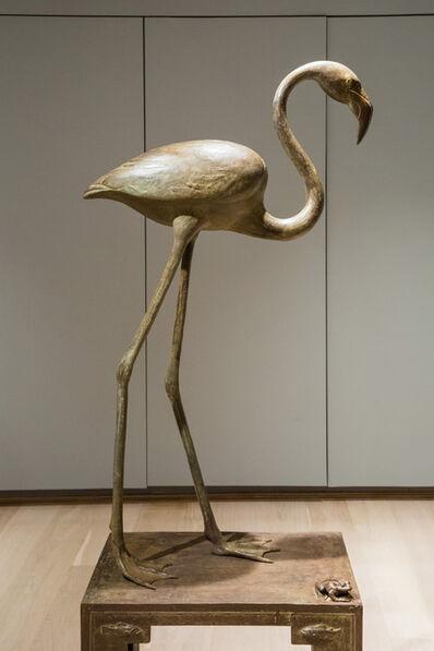 Nicola Lazzari, 'Standing Flamingo and frog', 2016