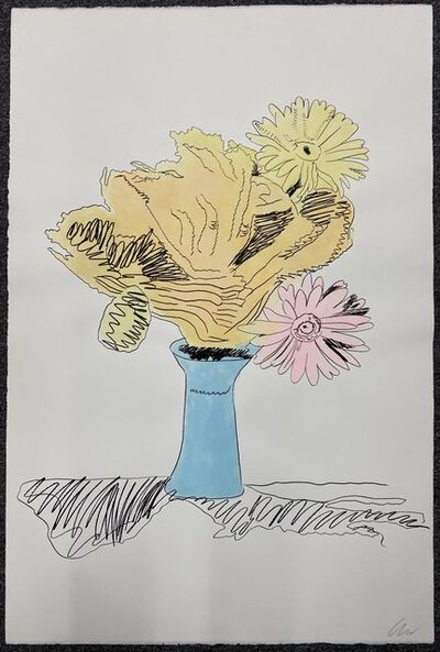 Andy Warhol, 'Flowers (Unique, Hand Colored)', 1974