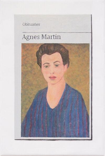 Hugh Mendes, 'Obituary: Agnes Martin', 2019