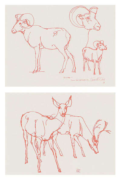 Kenneth Riley, 'Bighorn and Deer (2 works)', 20th/21st Century