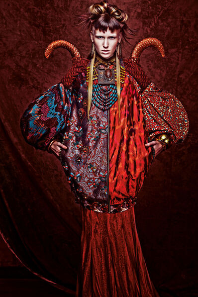 Melinda Looi, 'Ensemble (jacket, top, skirt, necklace, shoulder piece, and bracelets) from Sunset in Africa Collection', 2012