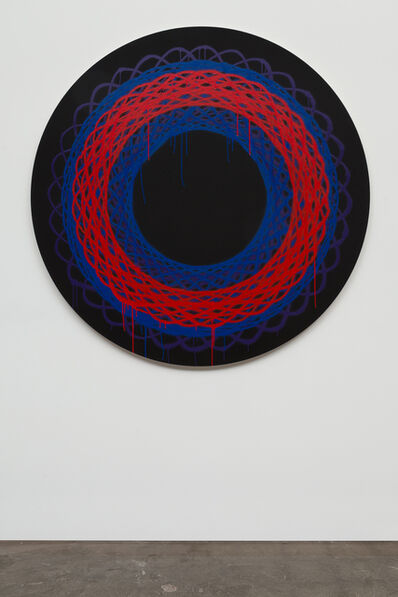 Jason REVOK, 'SpiroLoop_small_3/20_BLK/BL/R_1', 2020