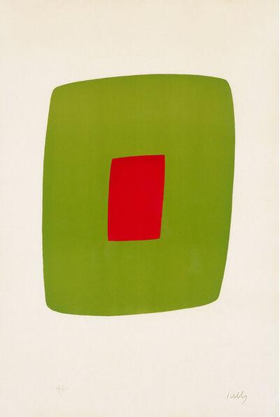 Ellsworth Kelly, 'Green with Red (Vert avec Rouge)', 1964-65