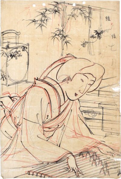 Yoshu Chikanobu, 'Preparatory Drawing of 'Annual Events and Customs of the Eastern Capital: Seventh Month'', ca. 1890