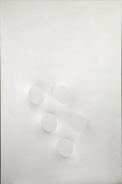 Turi Simeti, 'Cinque ovali bianchi', 1993