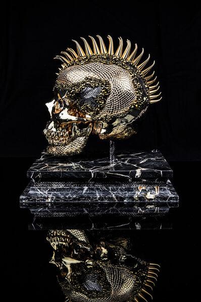 Jonas Leriche, 'Jonas Leriche, Skull (Yellow)', 2020