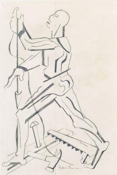 Jacob Lawrence, 'FIGURE STUDY AFTER VESALIUS (PROFILE WITH PLUMB-BOB)', ca. 1996