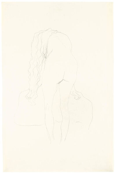 Gustav Klimt, 'Nude from the Back Leaning Forward', ca. 1907