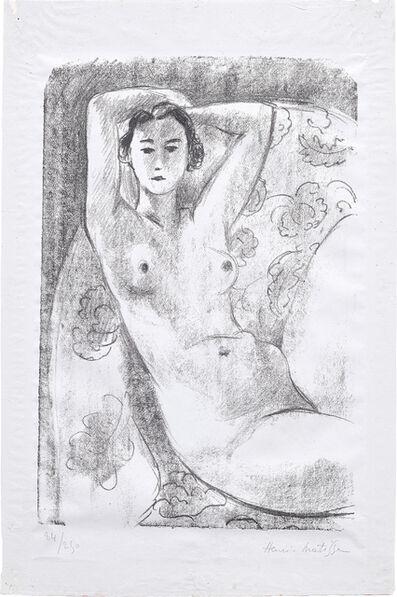 Henri Matisse, 'Nu assis dans un fauteuil au décor fleuri (Nude Sitting in a Floral Decorated Armchair)', 1924