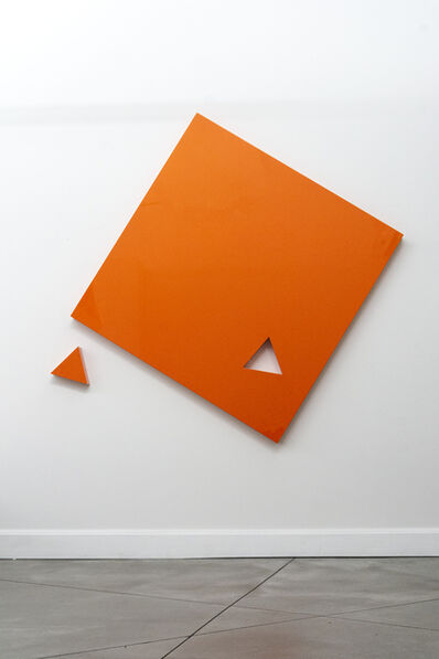 Lori Cozen-Geller, 'Piece - large, smooth surfaced, bright glossy orange, abstract wall sculpture', 2020