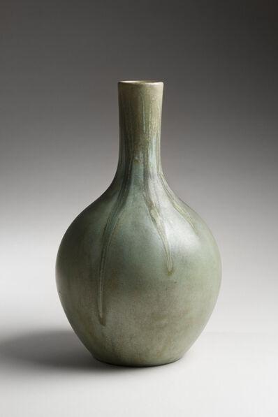 Unknown Artist, 'Crystal Patina bottle vase; Clifton Art Pottery, Newark, ', 1906