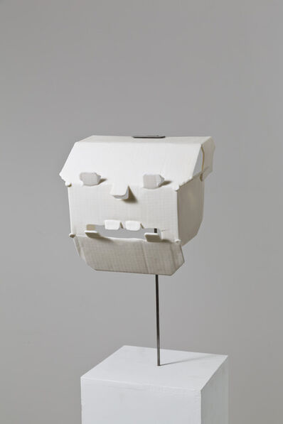 Judith Hopf, 'Trying to build a mask out of a hard drive package', 2013