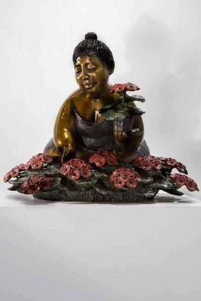 Rose-Aimé Bélanger, 'Geraniums woman H.C. II / II (Femme aux géraniums)', 2001
