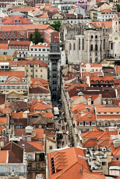 Andrew Prokos, 'Santa Justa from Above, Lisbon ', 2012