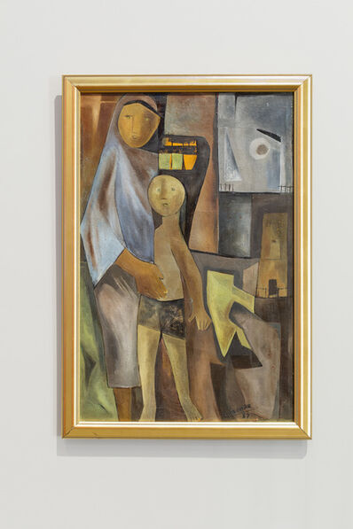 Ram Kumar, 'Mother and Child', 1957
