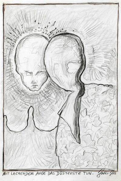 Günter Brus, 'Mit lachendem Auge das Düsterste tun.', 1986